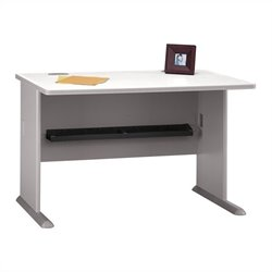 Bush BBF Series A 48W Desk in Pewter
