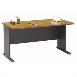 Bush BBF Series A 60W Desk in Natural Cherry