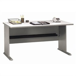 Bush Business Furniture Series A 60W Desk in Pewter