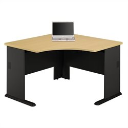 Bush BBF Series A 48W Corner Desk in Beech