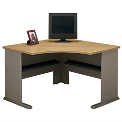 Bush Business Furniture Series A 48W Corner Desk in Light Oak