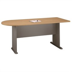 Bush BBF Series A 72W Universal Freestanding Peninsula in Light Oak