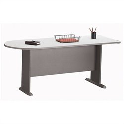 Bush BBF Series A 72W Universal Freestanding Peninsula in Pewter