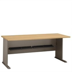Bush Business Furniture Series A 72W Desk in Light Oak
