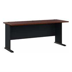 Bush Business Furniture Series A 72W Desk in Hansen Cherry