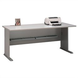 Bush Business Furniture Series A 72W Desk in Pewter