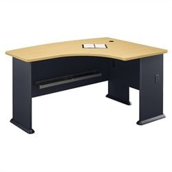 Bush Business Furniture Series A 60W x 44D RH L-Bow Desk in Beech