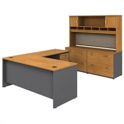 Bush BBF Series C 6-Piece L-Shape Desk Set
