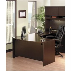 Bush Business Furniture Series C Mocha Cherry L-Shaped Desk