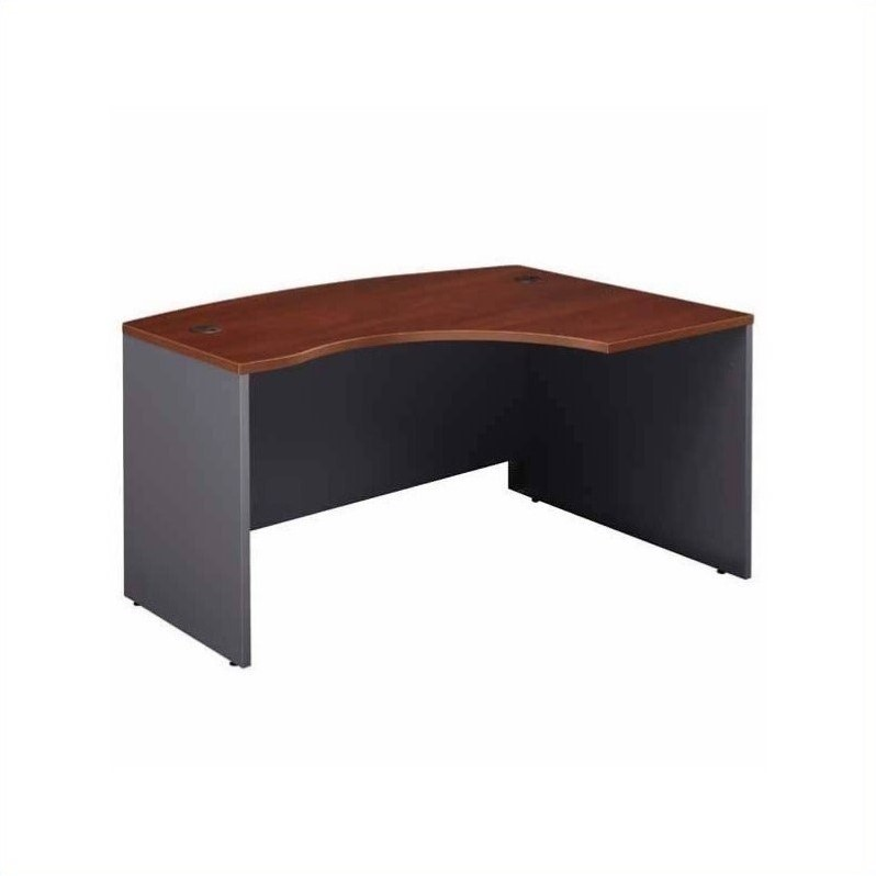 Bush BBF Series C Right-Hand Bow-Front Desk with Return in Hansen Cherry