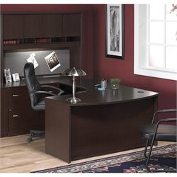 Bush BBF Series C 4-Piece U-Shape Left-Hand Corner Desk in Mocha Cherry
