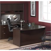 BBF Series C 4-Piece U-Shape Left-Hand Corner Desk in Mocha Cherry