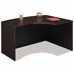Bush BBF Series C 3-Piece Right-Hand Bow-Front Desk Set in Mocha Cherry