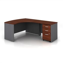 Bush BBF Series C 3-Piece Right-Hand Computer Bow Desk in Hansen Cherry