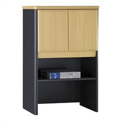 Bush Business Series A 24W Storage Hutch in Beech