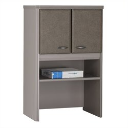 Bush Business Furniture Series A 24W Storage Hutch in Pewter