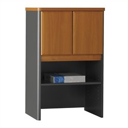 Bush Business Series A 24W Storage Hutch in Natural Cherry