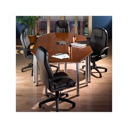 Bush Business Furniture Aspen Octagonal Conference Table Hansen Cherry
