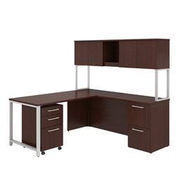 BBF 400 Series L-Shaped Desk with Hutch