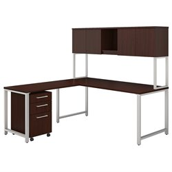 BBF 400 Series L-Shaped Table Desk with Hutch