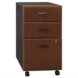 Bush Business Furniture Series A 3Dwr Mobile Pedestal in Hansen Cherry