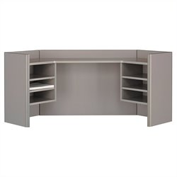 Bush Business Furniture Series A 42W Corner Hutch in Pewter
