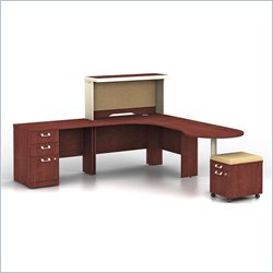 Bush BBF Quantum Harvest Cherry Professional Right L-Shaped Desk