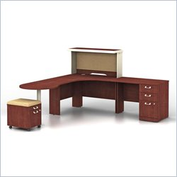 Bush BBF Quantum Harvest Cherry Professional Left L-Shaped Desk