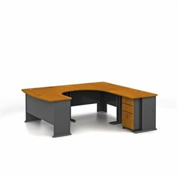 Bush Business Furniture Series A Natural Cherry RH Workstation