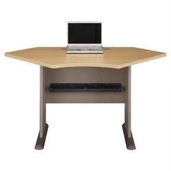 Bush Business Furniture Series A 42W Corner Desk in Light Oak