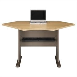 Bush BBF Series A 42W Corner Desk in Light Oak