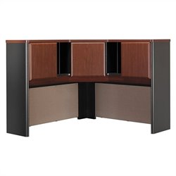 Bush Business Furniture Series A 48W Corner Hutch in Hansen Cherry