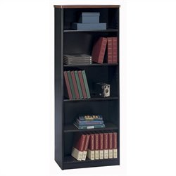 Bush Business Furniture Series A 26W 5-Shelf Bookcase in Hansen Cherry