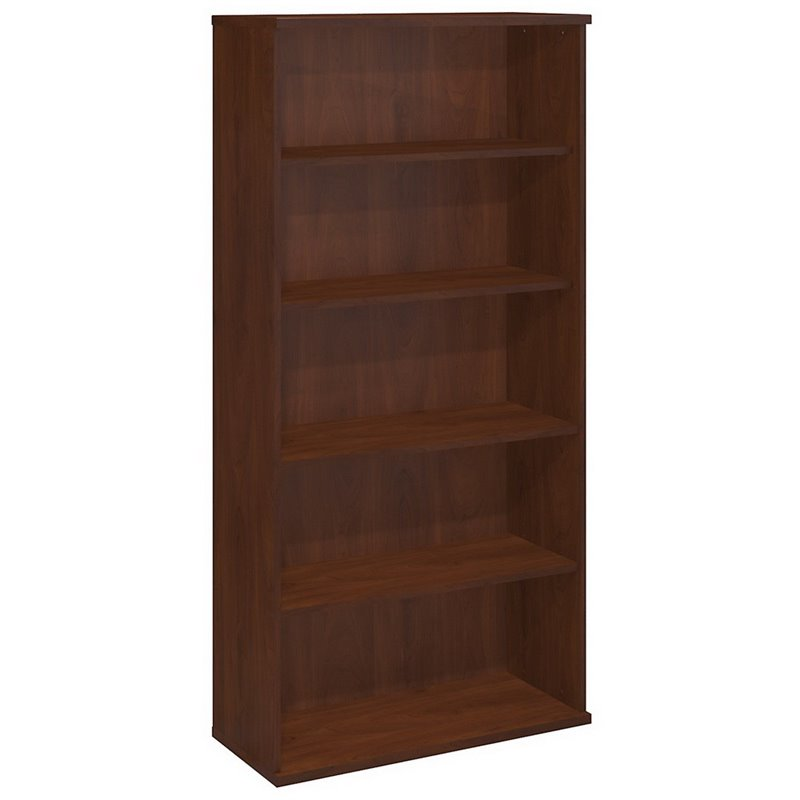 Bush BBF Series C 36W 5-Shelf Bookcase in Hansen Cherry