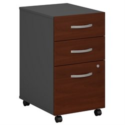 Bush BBF Series C 3Dwr Mobile Pedestal (Assembled) in Hansen Cherry