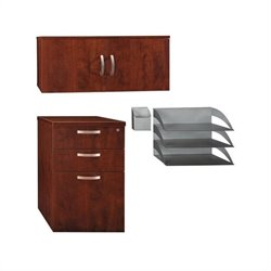 Bush Business Furniture Office-in-an-Hour Storage Kit in Hansen Cherry