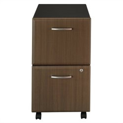Bush BBF Series A 2Dwr Mobile Pedestal in Sienna Walnut