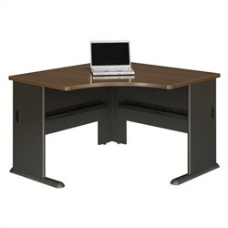 Bush BBF Series A 48W Corner Desk in Sienna Walnut