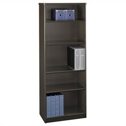 Bush Business Furniture Series A 26W 5-Shelf Bookcase in Sienna Walnut