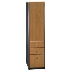 Bush Business Series A Vertical Locker in Natural Cherry