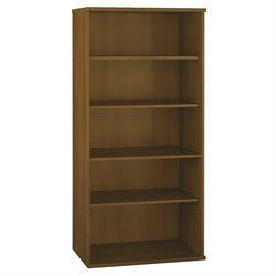 Bush Business Furniture Series C 36W 5-Shelf Bookcase in Warm Oak