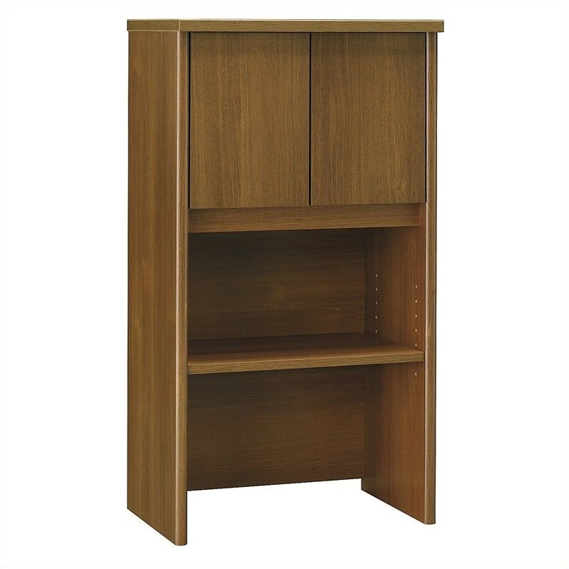Bush Business Furniture Series C 24W Hutch in Warm Oak