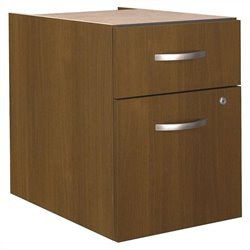 Bush BBF Series C 2 Drawer 3/4 Pedestal (Assembled) in Warm Oak