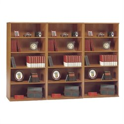 Bush Business Series C 5 Shelf Wall Bookcase in Natural Cherry