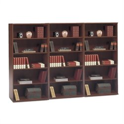 Bush BBF Series C 5 Shelf Wall Bookcase in Hansen Cherry