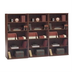 BBF Series C 5 Shelf Wall Bookcase in Hansen Cherry