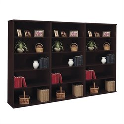Bush BBF Series C 5 Shelf Wall Bookcase in Mocha Cherry