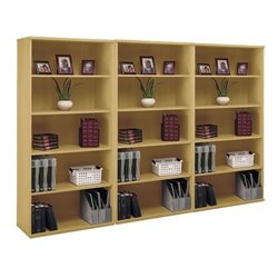 Bush Business Series C 5 Shelf Wall Bookcase in Light Oak