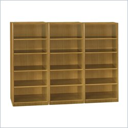 BBF Quantum 5 Shelf Wall Bookcase in Modern Cherry
