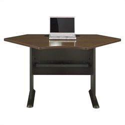 Bush BBF Series A 42W Corner Desk in Sienna Walnut